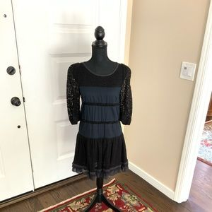 Marc by Marc Jacobs navy and black lace dress